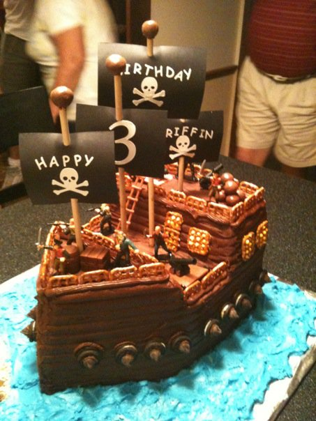 Images Pirate Birthday Cake : Threadcakes Pirate Infested Waters Threadless cake by ...