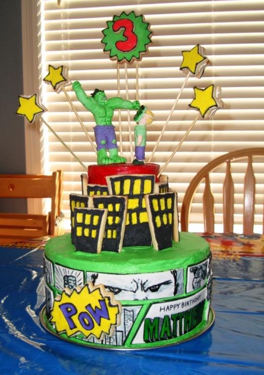 Threadcakes Hulk In The City Threadless Cake By Andrea Lloyd