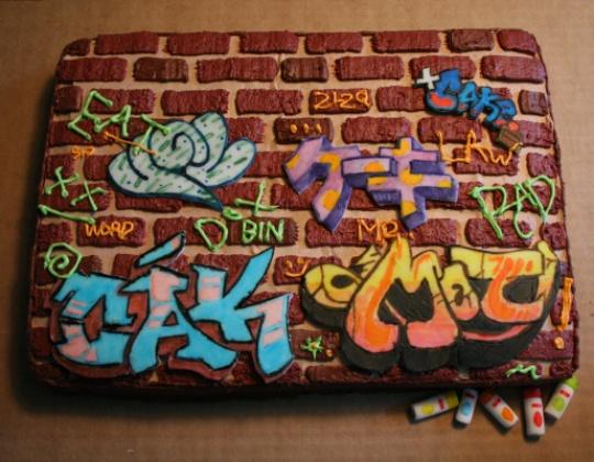 Картинки тортик граффити