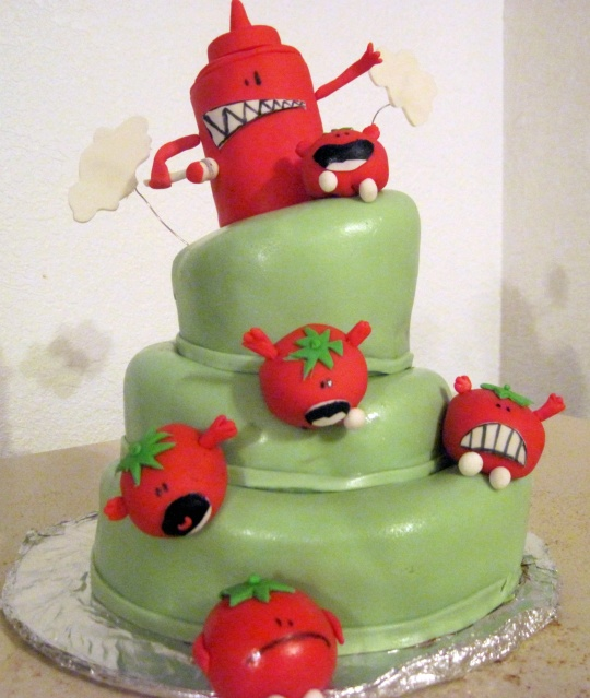 Threadcakes We Were Tomatoes Threadless Cake By Cassandra Sakamoto