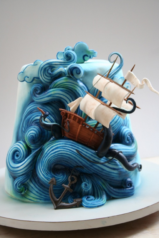 Stormy seas cake from Threadcakes